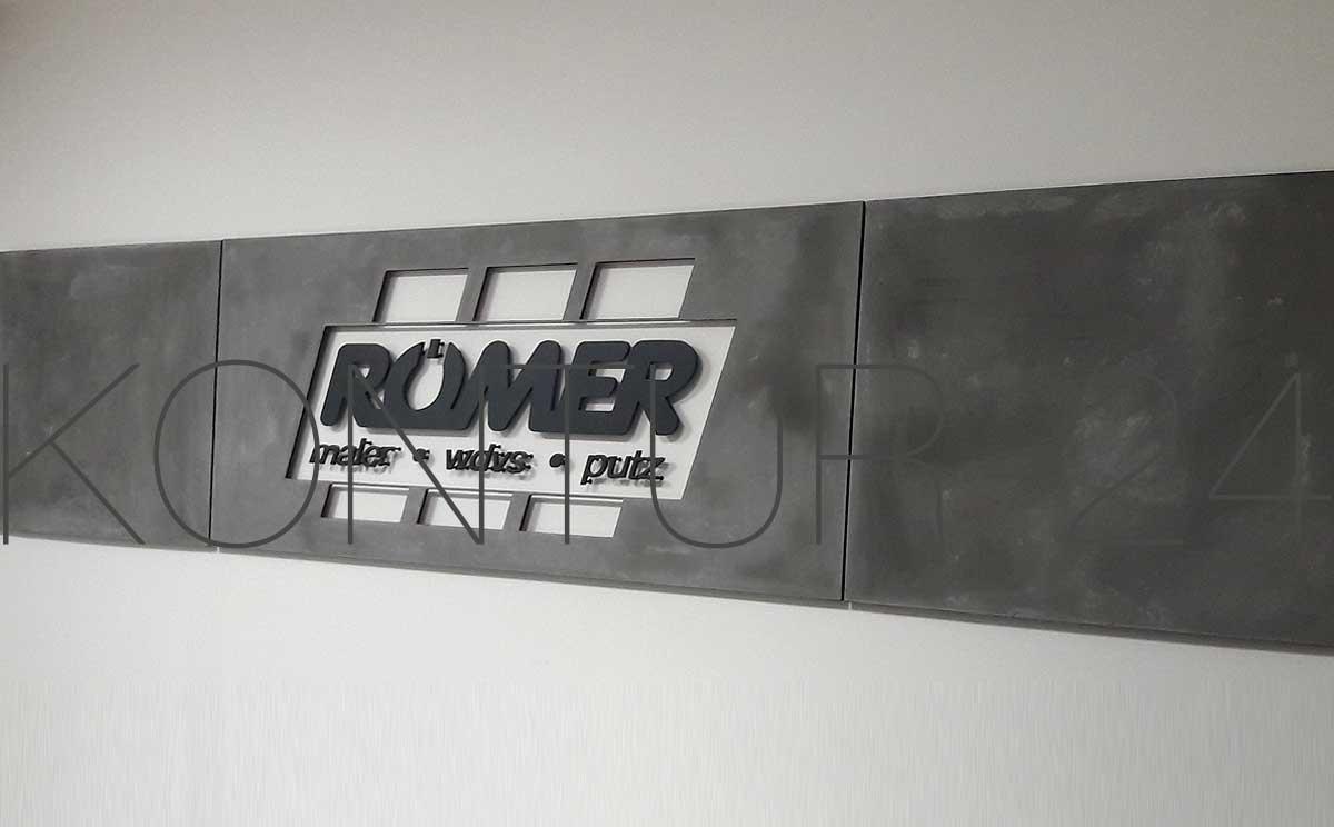 3d mdf buchstaben in 8mm materialst rke von maler r mer. Black Bedroom Furniture Sets. Home Design Ideas