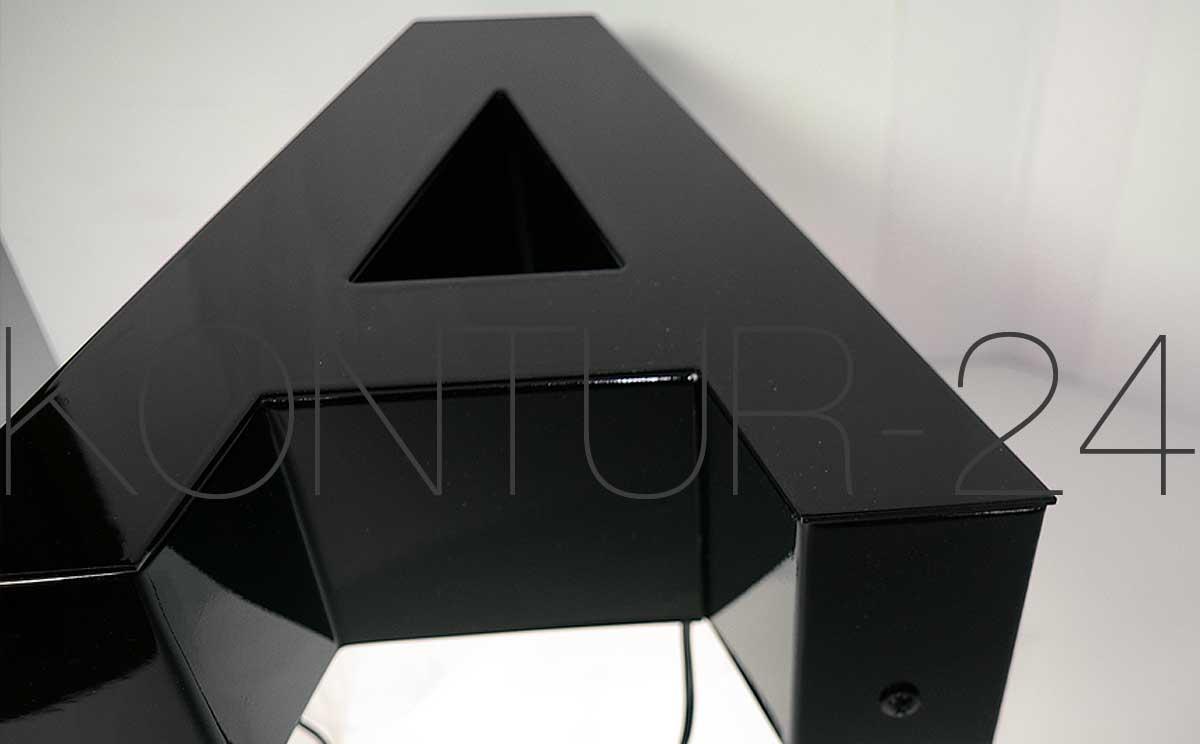 profil 1 buchstabe alu ral lackiert mit zargentiefe 80mm. Black Bedroom Furniture Sets. Home Design Ideas