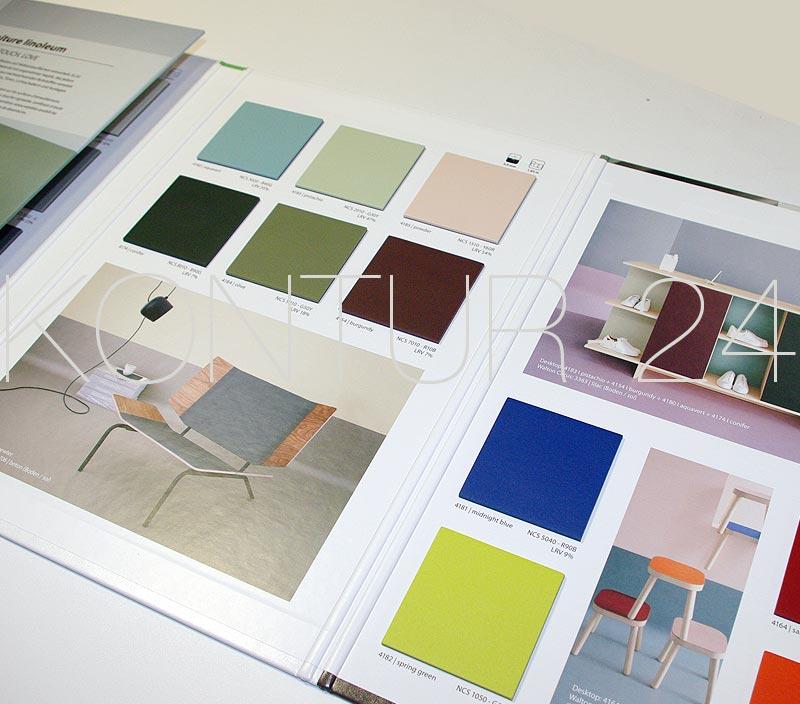 materialmuster mustermappe linoleum. Black Bedroom Furniture Sets. Home Design Ideas